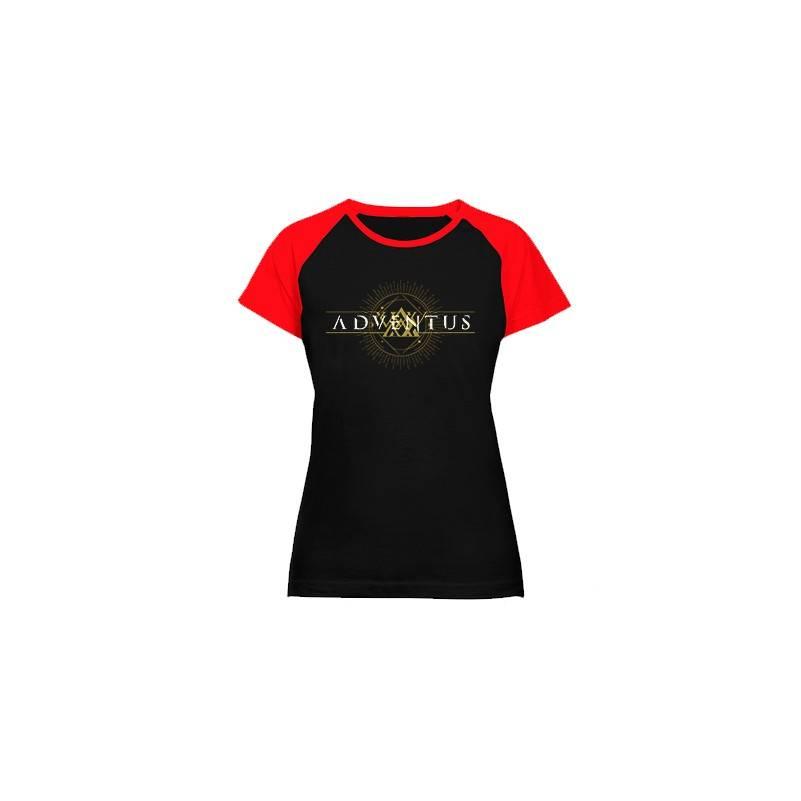 "Camiseta ranglan mangas rojas chica ""Logo Horizontal"""