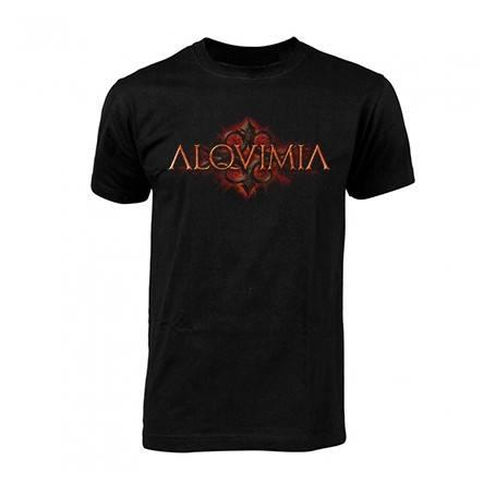 """Camiseta negra chico """"Logo fondo"""""""