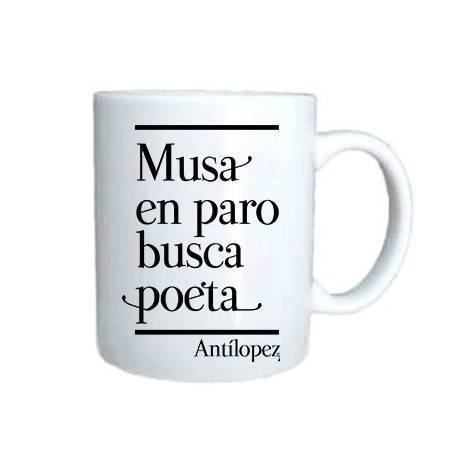 """Taza cerámica """"Musa en paro"""""""