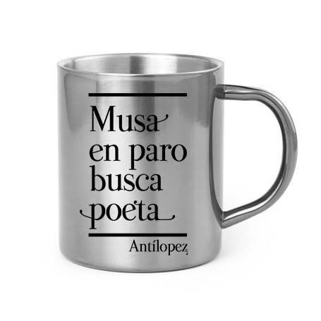 "Taza metálica ""Musa en paro"""
