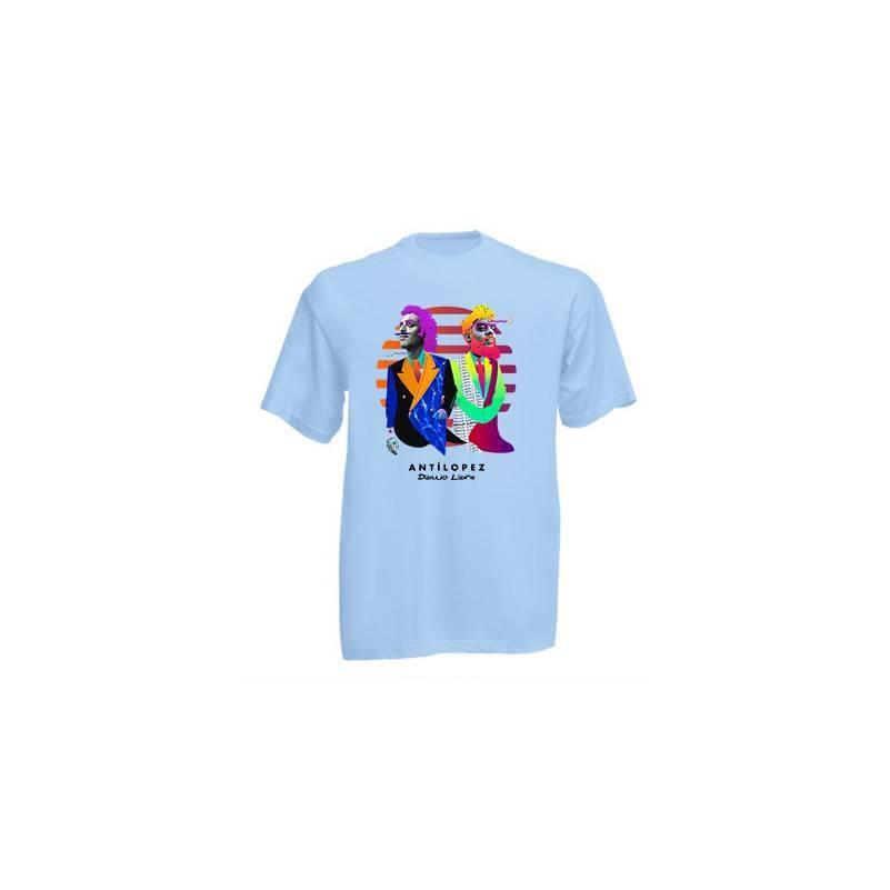 "Camiseta azul claro chico ""Dibujo Libre"""