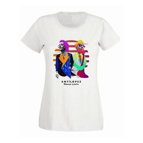 "Camiseta blanca chica ""Dibujo Libre"""
