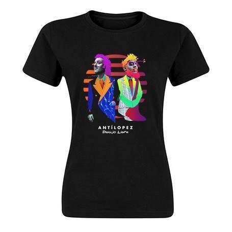 "Camiseta negra chica ""Dibujo Libre"""