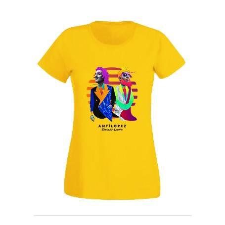 """Camiseta amarillo chica """"Dibujo Libre"""""""