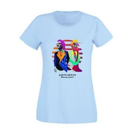 "Camiseta azul claro chica ""Dibujo Libre"""