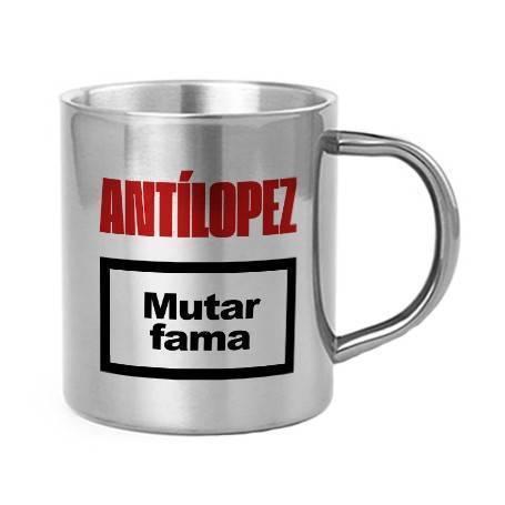 "Taza metálica ""Mutar Fama"""