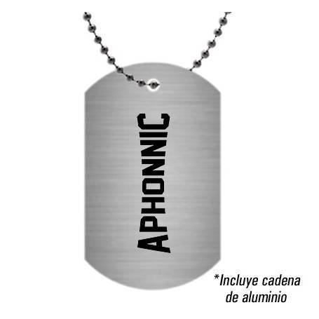 Colgante/Placa aluminio...