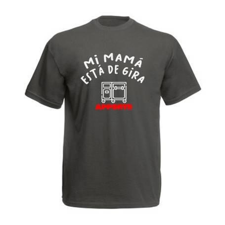 """Camiseta """"Mi mamá está de..."""