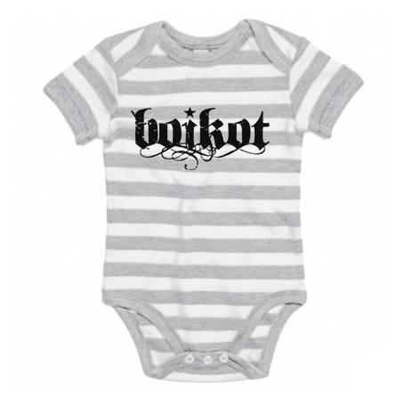 "Body bebé rayas ""Logo"""