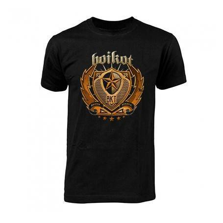 "Camiseta negra chico ""Balkan Acoustic resalte"""