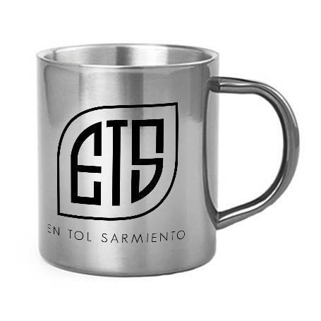 "Taza metálica ""Logo Aukera..."