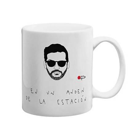"""Taza cerámica """"En un andén..."""