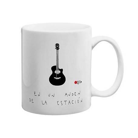 """Taza cerámica """"Guitarra andén"""""""