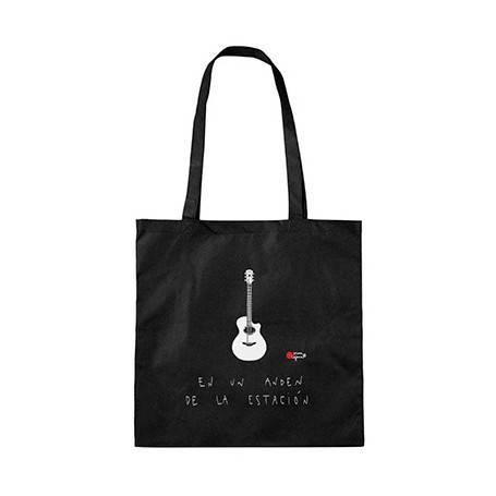 "Bolsa de tela ""Guitarra andén"""