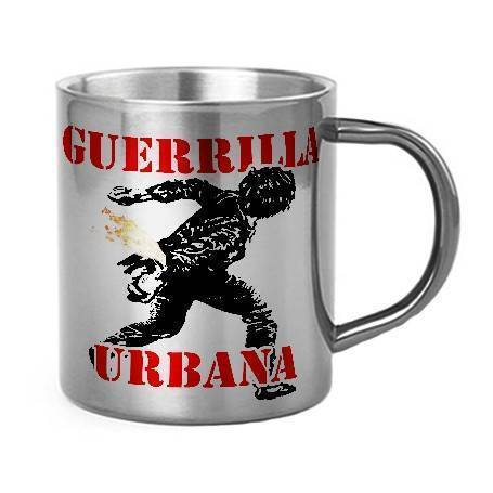 "Taza metálica ""Guerrilla..."