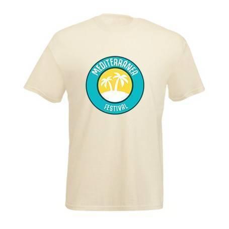 """Camiseta beige """"Logo color..."""