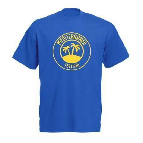"""Camiseta azul """"Mediterranea..."""