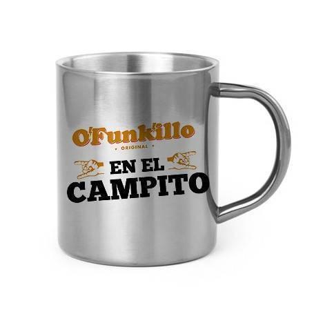 """Taza metálica """"En el Campito"""""""