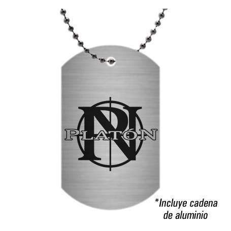 "Colgante/Placa aluminio ""Logo"""