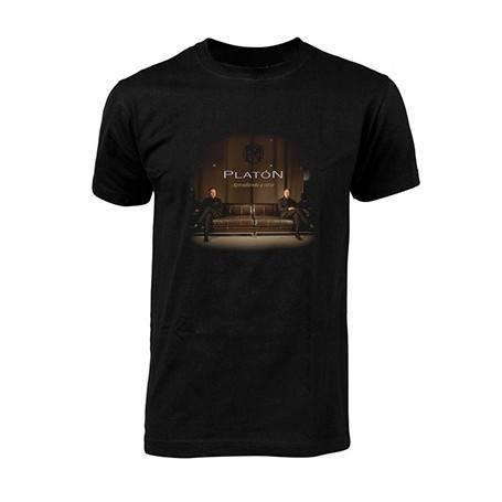 """Camiseta negra chico """"Portada Aprendiendo a vivir"""""""