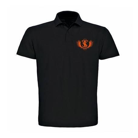 "Polo ""Logotipo"" en naranja"