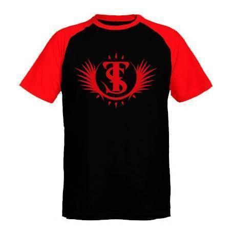 """Camiseta ranglan mangas rojas chico """"Logotipo"""""""