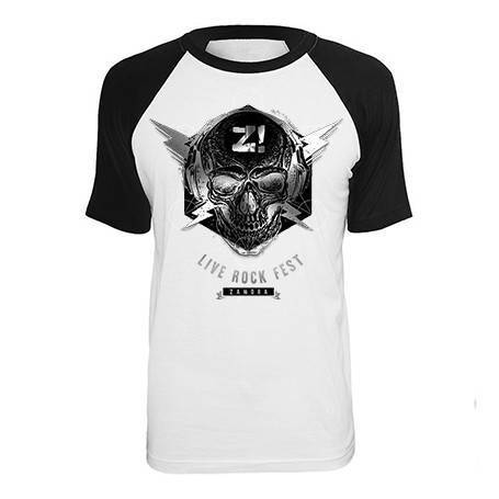 "Camiseta ranglan ""Skull"""