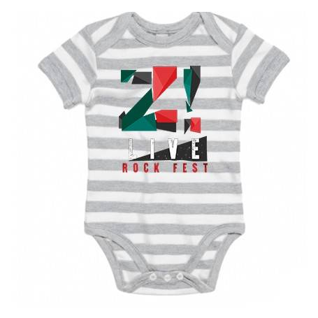 "Body bebé rayas ""Logo color..."